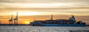 Maersk Line Container Ship in Charleston Harbor