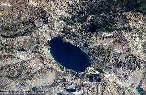 Sawtooth Lake Aerial in Sawtooth Mountains