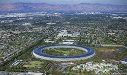 aerial imagery of Apple Park Building Apple Inc Headquarters