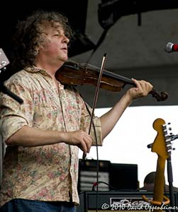 time carbone playing violin with railroad earth at all good music festival
