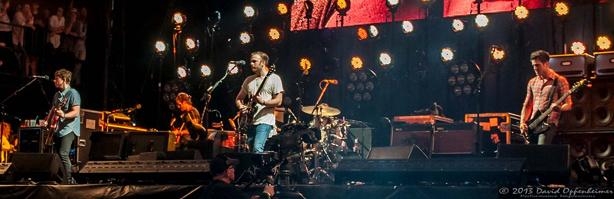 Kings of Leon at Hangout Music Festival 2013