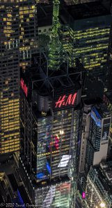 4 Times Square Building in New York City Aerial View - One Five One