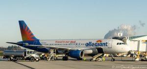 Allegiant Air Airbus A320-214 Jet at Asheville Regional Airport