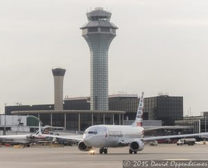 American Airlines Jet at O'Hare International Airport