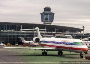 American Airlines Jet Plane at LaGuardia Airport