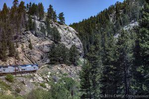 Amtrak in Rocky Mountains of Colorado