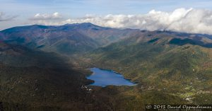 Burnett Reservoir and the Asheville Watershed in the Blue Ridge Mountains
