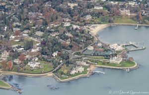 Belle Haven in Greenwich Connecticut Aerial