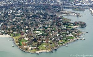 Field Point in Belle Haven in Greenwich Connecticut Aerial