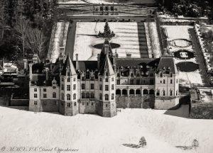 Biltmore Estate with Snow Aerial Photo