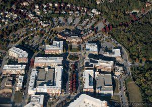 Biltmore Park Town Square Real Estate Aerial Photo