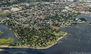 Black Rock in Bridgeport Connecticut Aerial