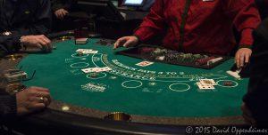 Blackjack Table at Harrah's Cherokee Casino Resort and Hotel
