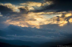 Sunset on the Blue Ridge Mountains
