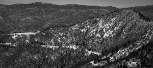 Waterrock Knob on Blue Ridge Parkway Aerial Photo