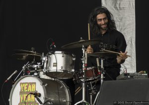 Brian Chase with the Yeah Yeah Yeahs