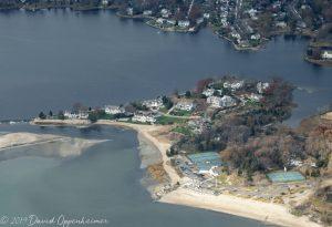 Brush Island Real Estate in Darien Connecticut Aerial
