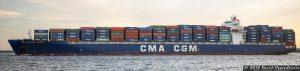 CMA CGM S.A.Container Ship in Charleston Harbor
