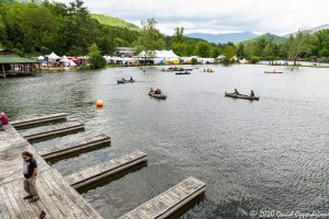 Canoes on Lake at LEAF Festival in Black Mountain