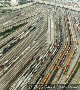 Chicago Railyard Aerial Photo - The Belt Railway Company of Chicago