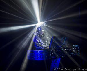 Chris Lowe with the Pet Shop Boys