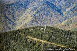 Clingmans Dome Observation Tower in the Great Smoky Mountains National Park