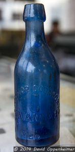 John Ryan Colbalt Blue Excelsior Sodaworks Soda Bottle