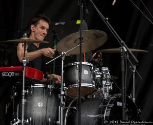 Cody Dickinson with the North Mississippi Allstars