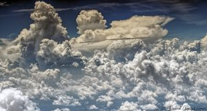 Cumulonimbus Clouds over Atlanta Georgia Aerial