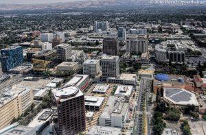 Downtown San Jose California Aerial