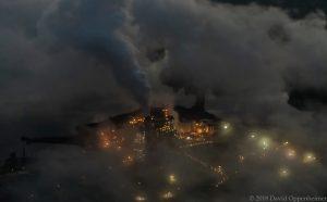 Duke Energy - Progress Energy Coal Burning Power Plant at Lake Julian