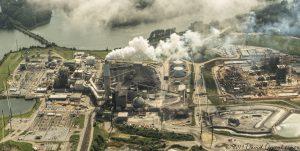Duke Energy Asheville Plant - Progress Energy Coal Burning Power Plant at Lake Julian