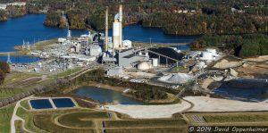 Duke Energy Coal Burning Asheville Plant and Coal Ash Ponds