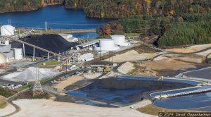 Coal Ash Ponds at Duke Energy Asheville Plant on Lake Julian