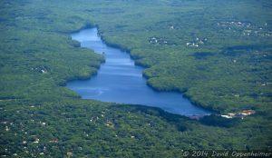 Easton Reservoir in Easton, Connecticut