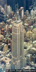 Empire State Building in NYC Aerial Photo