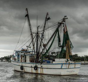 Fishing Boat in Georgetown Harbor Along Winyah Bay