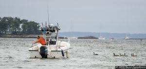 Fishing Boat in Mamaroneck Harbor