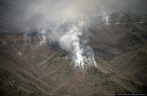 Forest Fire Blue Ridge Parkway