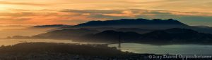 Golden Gate Bridge and San Francisco Bay at Sunset