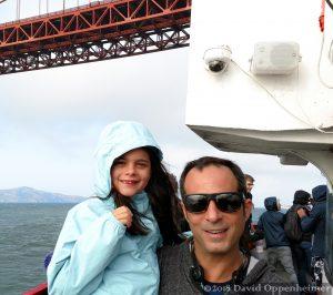 Happy Family at Golden Gate Bridge in San Francisco, California