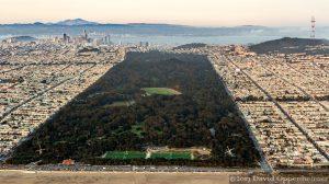 Golden Gate Park in San Francisco Aerial Photo