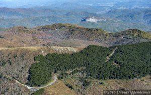 Blue Ridge Parkway Fall Colors Aerial