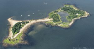 Great Captain Island in Greenwich Connecticut Aerial Photo