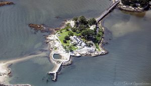 Greenway Island aka Caritas Island in Stamford Connecticut Luxury Real Estate Aerial