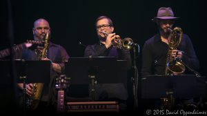 Art Edmaiston, Marc Franklin, and Jay Collins with Gregg Allman Band