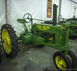 John Deere B Tractor at NC Mountain State Fair