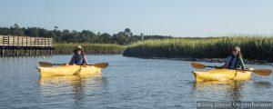 Kayaking at Huntington Beach State Park