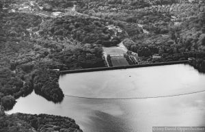 Kensico Reservoir and Kensico Dam Plaza Aerial Photo