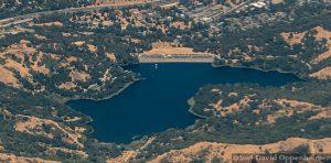 Lafayette Reservoir Aerial in Lafayette, California